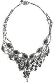 swarovski crystal black necklace images Tom binns silver plated swarovski crystal safety pin necklace jpg