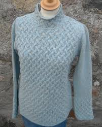 irelandseye trellis sweater in sky 95 00 the old byre showroom