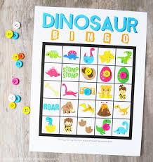 free printable dinosaur bingo artsy fartsy mama