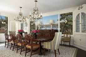 sturdy dining room chairs with traditional wood dining table