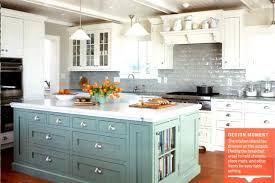 painted kitchen island colored kitchen cabinets