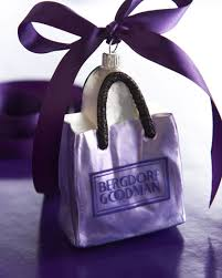 bergdorf goodman shopping bag ornament