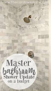 23 best master bath images on pinterest master bathrooms master bathroom shower update on a budget from the cards we drew