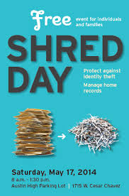 where to shred papers for free free drop events