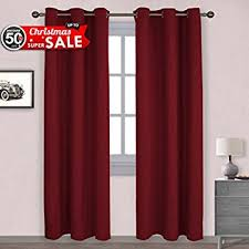 Thermal Curtains For Winter Nicetown Burgundy Blackout Curtains Gift