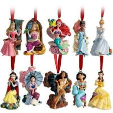 limited edition 2011 disney princess ornament set 10 pc