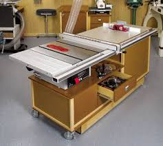 table saw workbench plans idea shop 5 tablesaw routing center table saw station pinterest