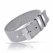 bracelet mesh images Surgical steel belt buckle mesh bracelet 8 in jpg