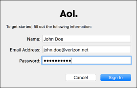 how to reset a verizon email password configure a verizon net account using imap aol help