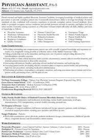 Physician Assistant Resume Templates Sle Physician Assistant Resume Clinical Assistant