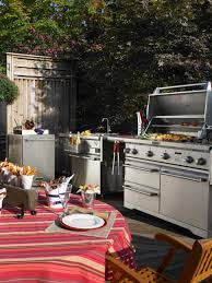 kitchen contemporary backyard with outdoor kitchen gray brick