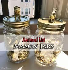 animal lid mason jars frugelegance