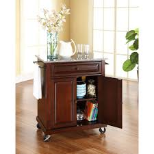 crosley black kitchen cart with black granite top kf30004ebk the