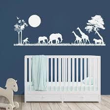 Safari Nursery Wall Decals Safari Decal Nursery Decor Vinyl Wall Decal Boys Bedroom