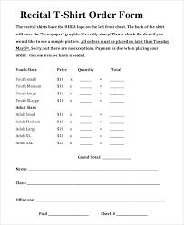 t shirt order form templates memberpro co