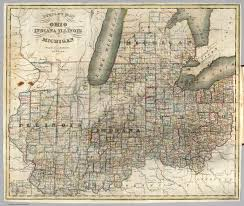 Map Of Ohio by Steele U0027s Map Of Ohio Indiana Illinois U0026 Michigan David Rumsey
