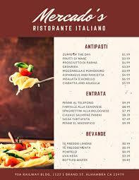 menu template for mac italian menu templates canva