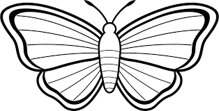 simple butterfly coloring pages 3194