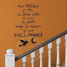 halloween bat wall decals amazon com when witches go riding and black cats are seen the