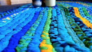 tappeti fai da te fettuccia riciclo