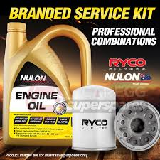 ryco oil filter 5l syn10w40 oil service kit for hyundai excel x2