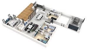 plan de maison plain pied 4 chambres avec garage plan maison plain pied 4 chambres 3d avec plan de maison moderne 3d
