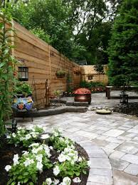 marvelous decor of the beautiful backyard design with wooden fence