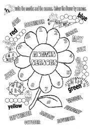 english worksheet months and seasons education pinterest