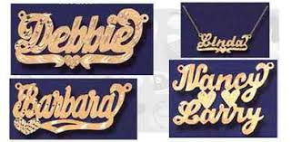Personalized Name Plate Necklaces Name Plate Necklaces Old Memories