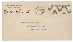 fdr free franked envelope