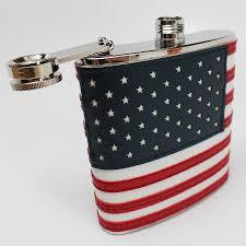Th Flag Hand Sewn American Flag Flask 19 99 Funslurp Com Unique