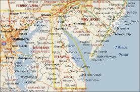 delaware road map usa delaware map