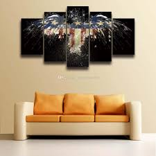 American Flag Living Room by Printed Usa American Flag Eagle Canvas Painting For Wall Art Home