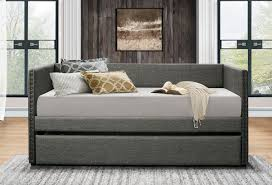 Linen Daybed Grey Linen Fabric Daybed