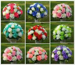 decoration flowers roman pillar flower wedding fullness rose road led flowers wedding