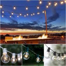outdoor globe light chain string lights for porch
