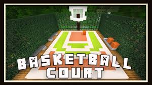minecraft basketball court design modern house tutorial ep 24