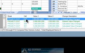 comparing two workbooks with excel 2013s compare files feature