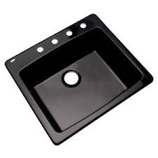 Black Single Bowl Kitchen Sink by Elkay Elkay By Schock Drop In Undermount Quartz Composite 24 In