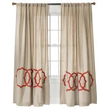 Orange And Beige Curtains Fretwork Border Curtain Panel Threshold Target