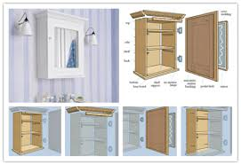 Diy Bathroom Wall Cabinet by Diy Mirrored Medicine Cabinet Designs Appalling Family Room