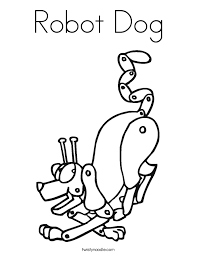 robot dog coloring twisty noodle