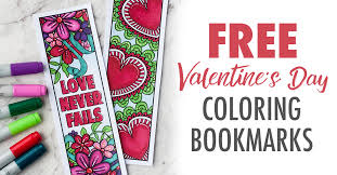free printable valentine u0027s day coloring bookmarks