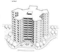 2 bhk flat design plans 2 unit apartment building plans floor designs drawing black and
