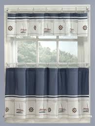 theme valances blue nautical curtains valance tiers set cape cod coastal decor