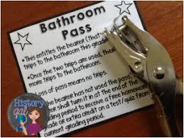 Bathroom Pass Ideas Bathroom Passes Free Classroom Ideas And Management
