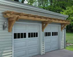 11 garage pergola over carriage doorsgarage door arbor plans diy