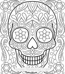 Coloring Pages To Print And Color Free Sugar Skull Coloring Page Pictures To Color