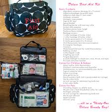 the ultimate first aid kit in a thirty one deluxe beauty bag