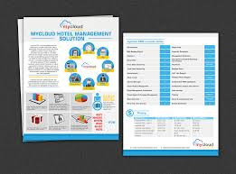 brochure design software brochure design for mycloud www mycloudhospitality by yganess